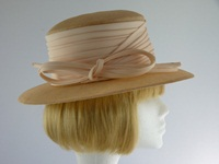 Whiteley Wedding hat Biscuit and Creamy Nectarine